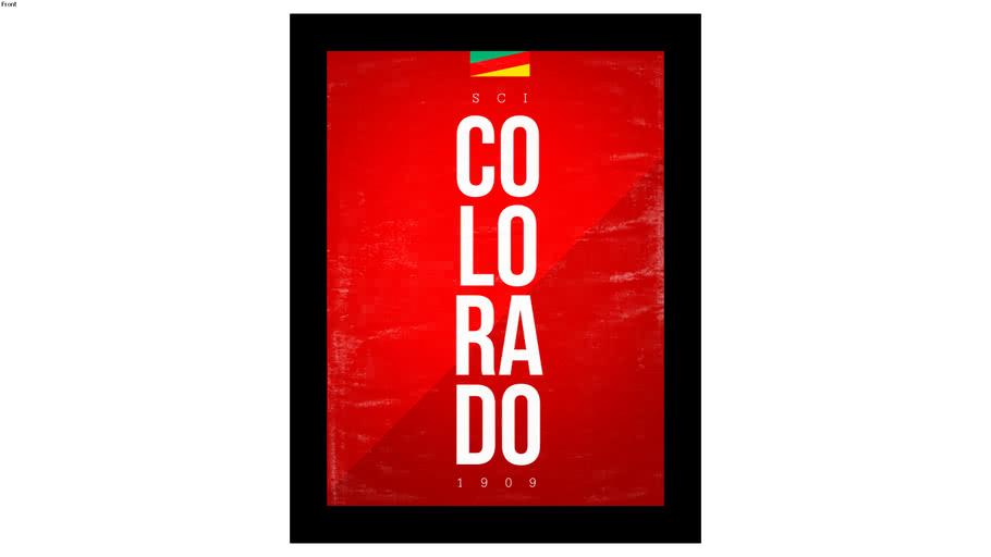 Quadro Internacional 30x40cm - Quadro futebol - Colorado