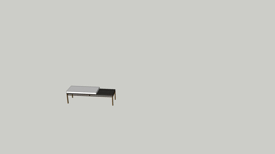 Modern Four Hands End Of Bed Bench Seating 3d Warehouse