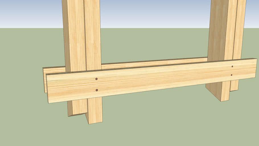 Wood Flip table