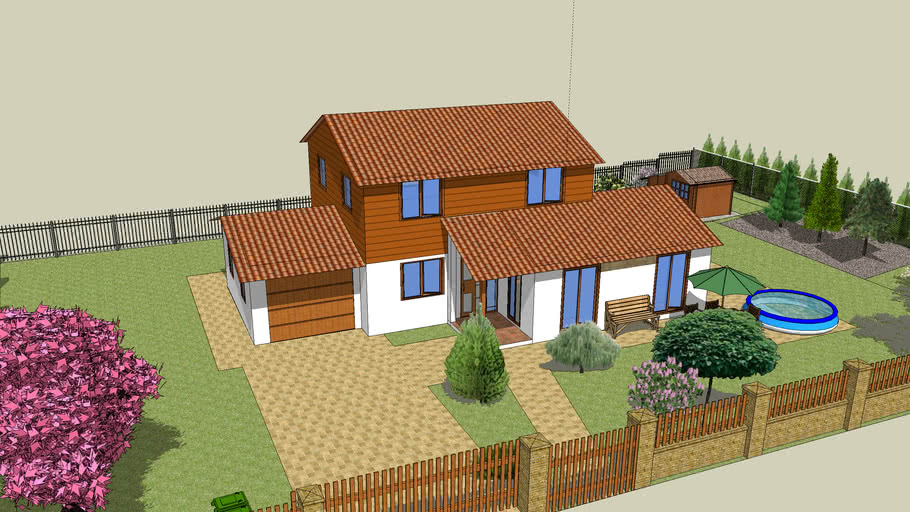 House Euroline Optimal 436 + garden house