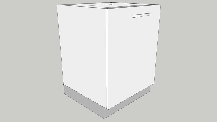 600 Base Module with One Shutter & One Adjustable Shelf 600X560X700 CID_CP10000007