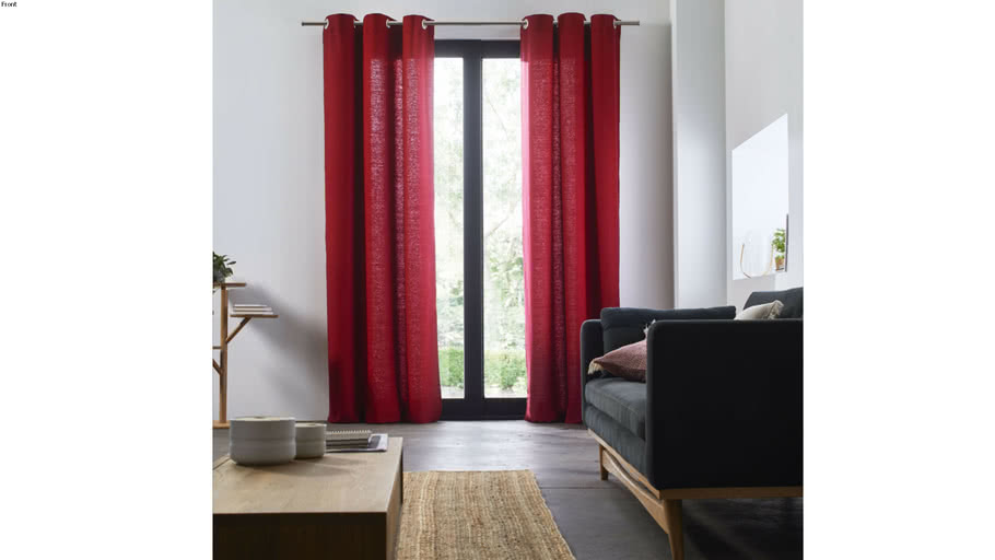 Eyelet Curtain AUBIN by Madura Red / 199€ - 359€ TTC