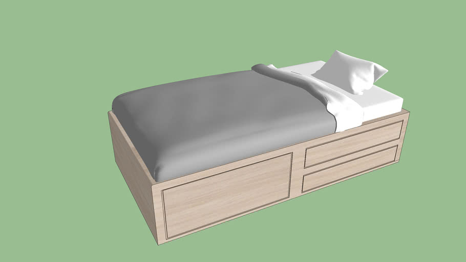 single bed with drawer