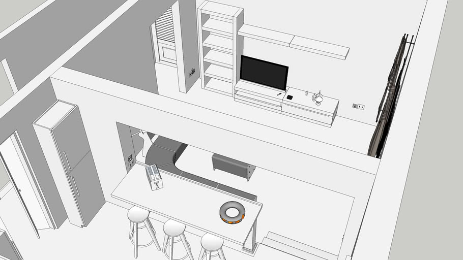 Living, Dining and Kitchen (Spatial Design)