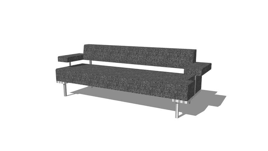 ZENTRUM sofá de 3 plazas