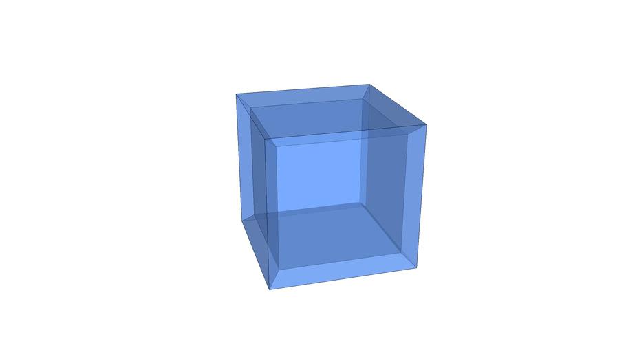 """3"""" blue acrylic cube"""