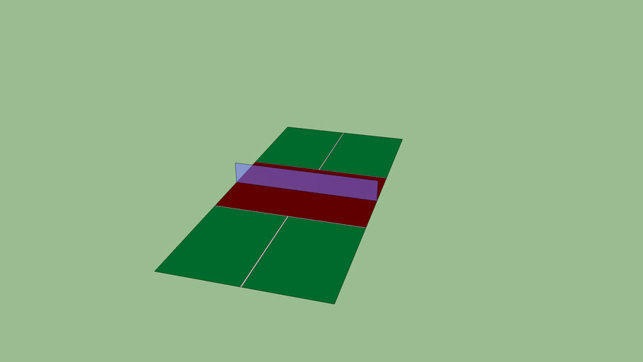Regulation size Pickleball Court