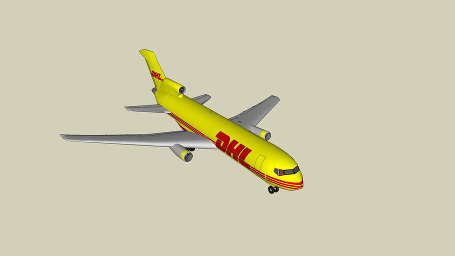 dhl commercial plane