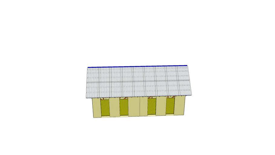 Каркасный сарай 10х4