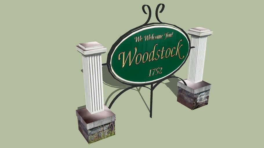 Welcome Sign Woodstock, Virginia