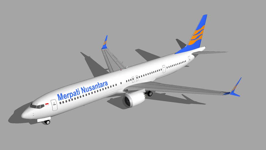 Merpati Boeing 737-MAX 10 2