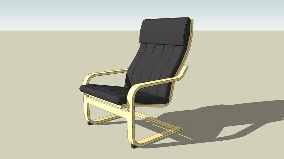 Ikea Poang Draaifauteuil.Ikea Poang Chair 3d Warehouse