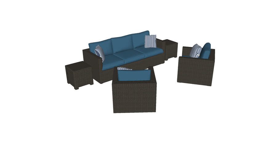 Wicker Couch and Chairs Outdoor Furniture