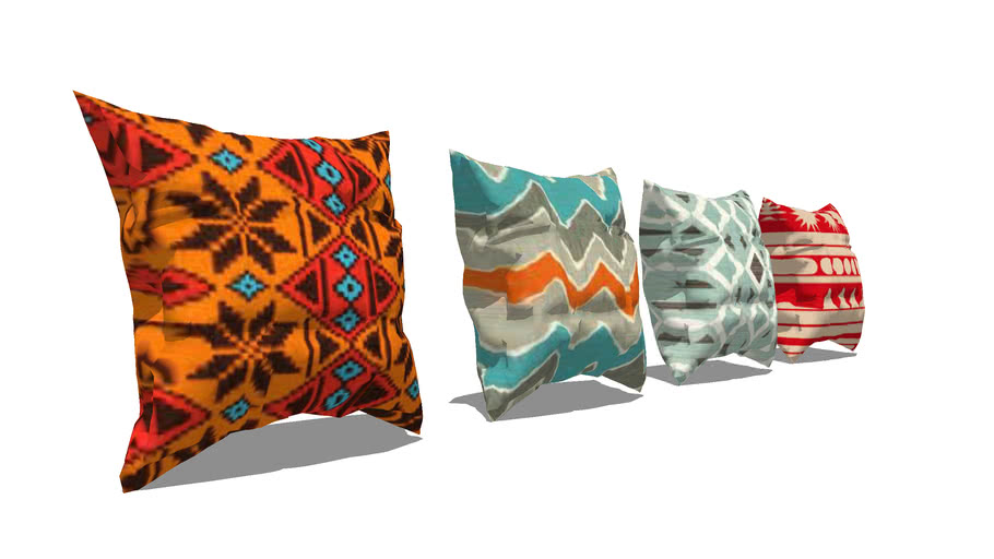 Set of Colorful Pillows