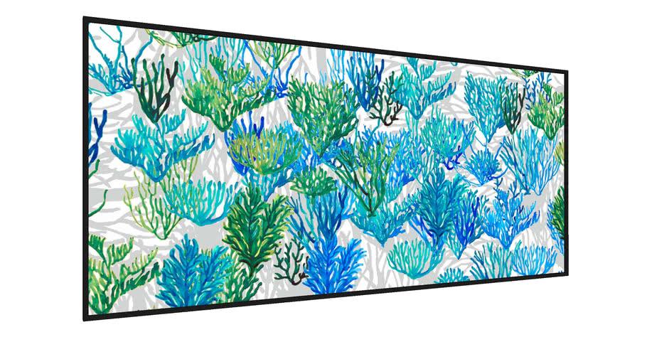 Quadro Algas Azuis e Verdes