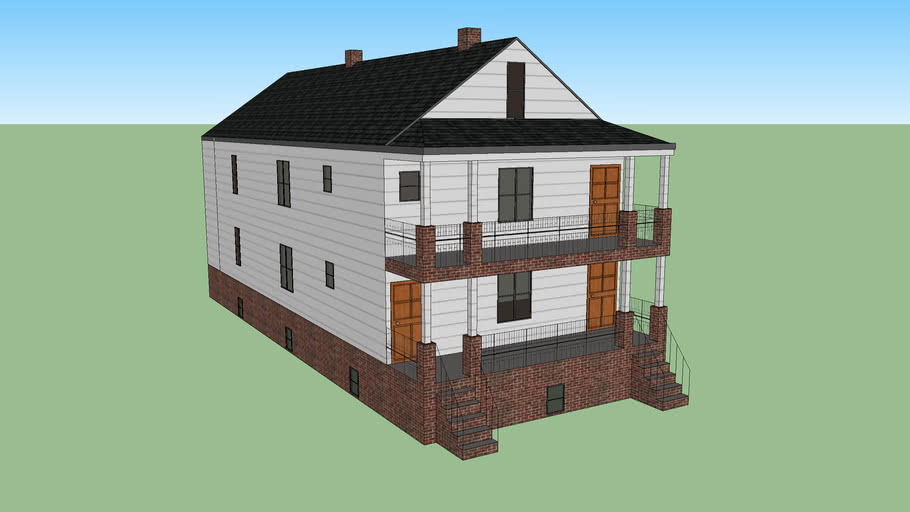Craftsman house, 2 family flat