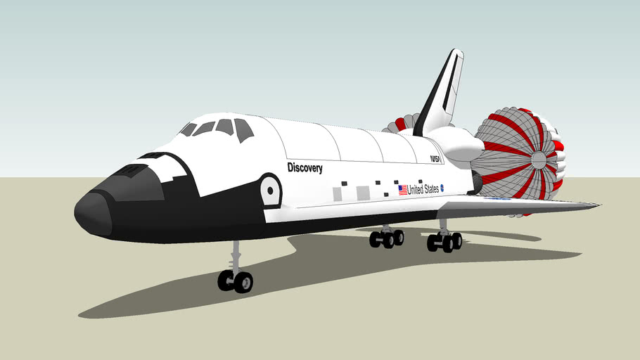 Landed Space Shuttle Discovery