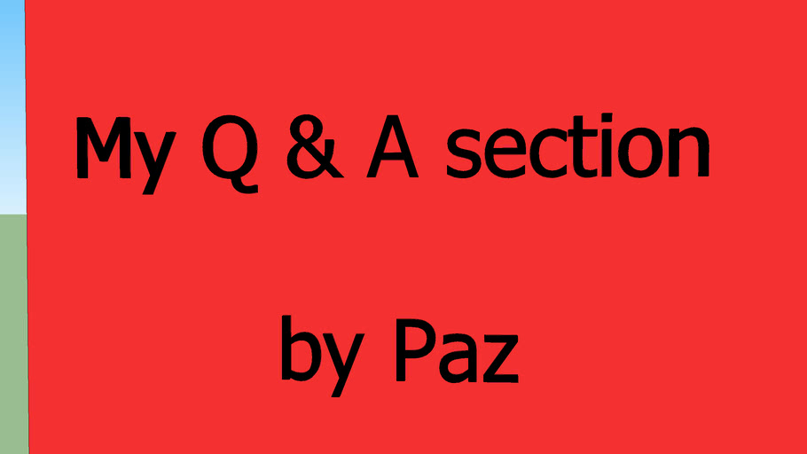 Q & A page I HAVE NOT LEFT, my computer is broken