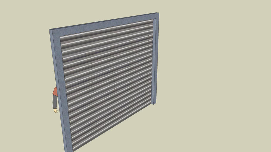 10x12x4 Brushed Metal and Corrugated Aluminum Roll Up Door