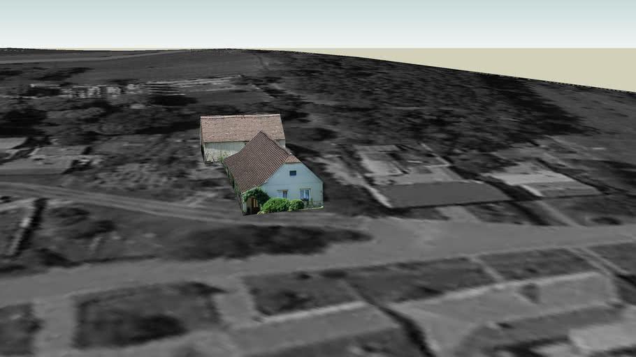 Dukovany - domy u cesty směrem k ubytovnam