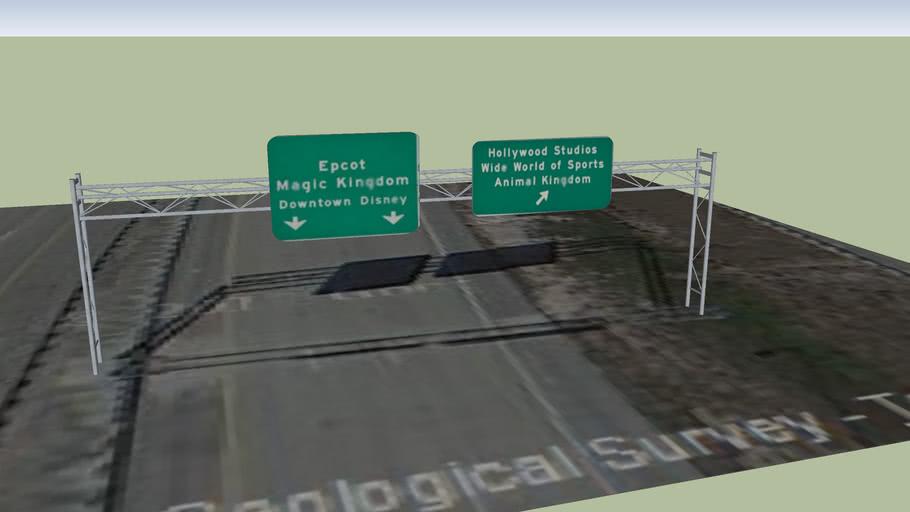 World Drive Sign#10 Northbound