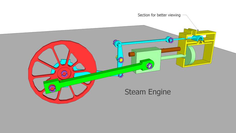 steam engine | 3d warehouse  3d warehouse - sketchup