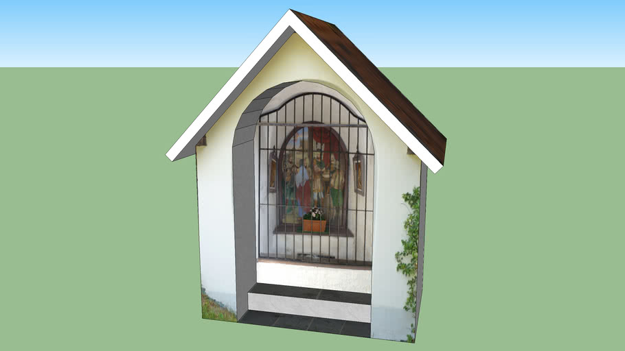 Kapelle 2 von 4 auf dem Weg zur Moritzenkirche, Telfs, Tirol, Österreich