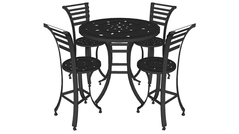 Radial bar table set