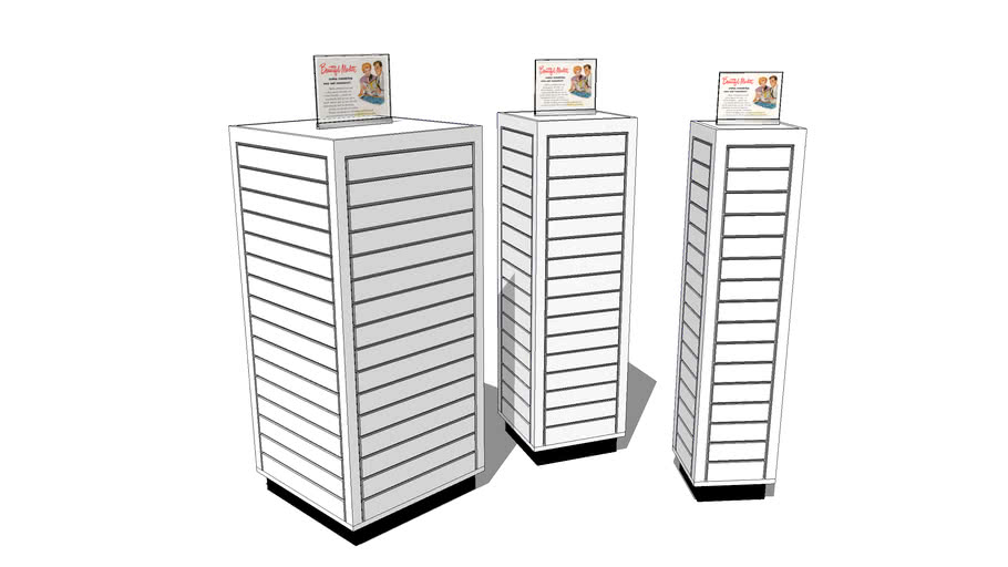 Marlite Slatwall - Floor Display Cubes