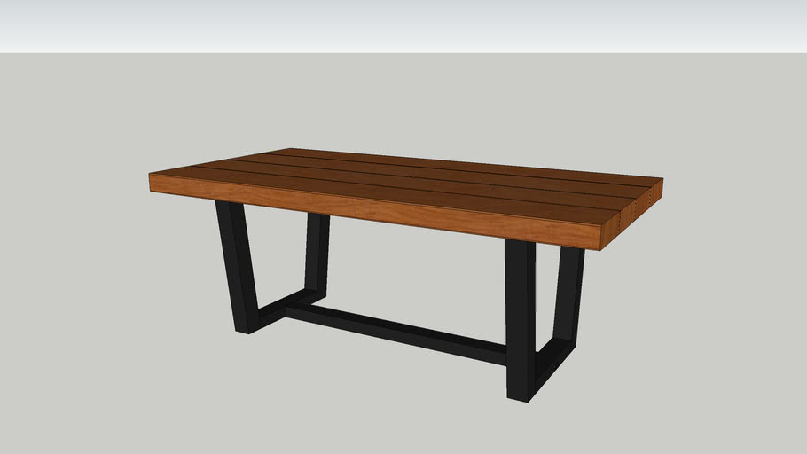 72 in. Rustic Urban Industrial Farmhouse Dining Table
