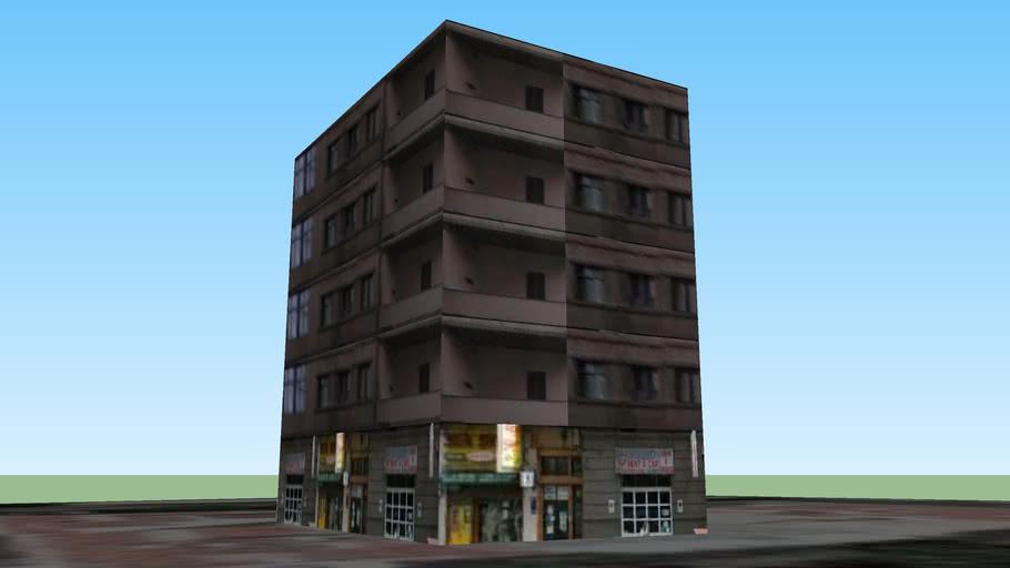Edificio entre la calle alvareda y calle Gomera
