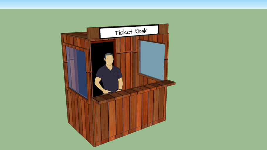 Wooden kiosk
