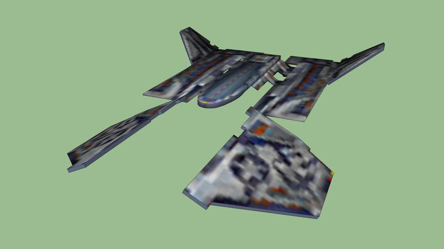 Космический корабль из игры Дарк Орбит