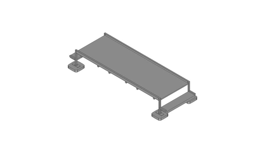 Walraven BIS Yeti® - roof step over, stair modular set, standing on roof layers, H50_W100_L300