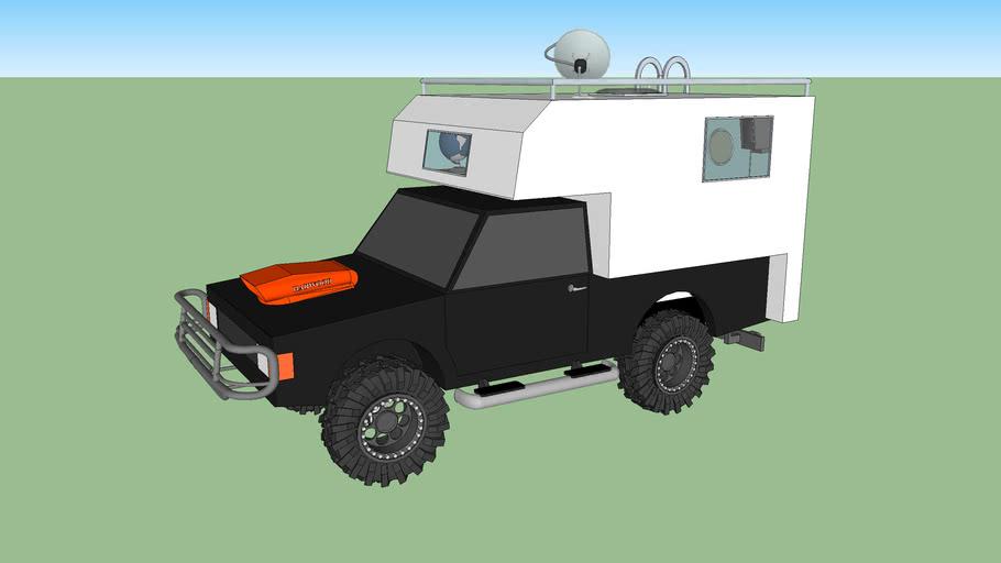 muddin truck with camper