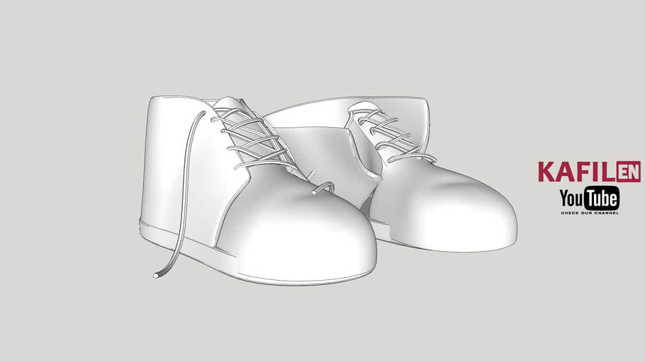 Shoes with tie