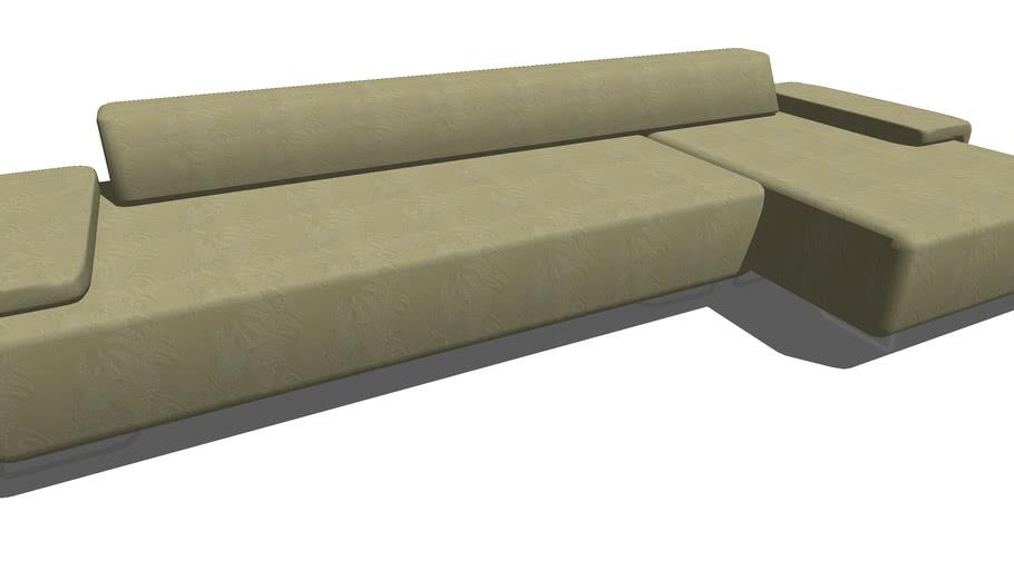 sofa en l 3d