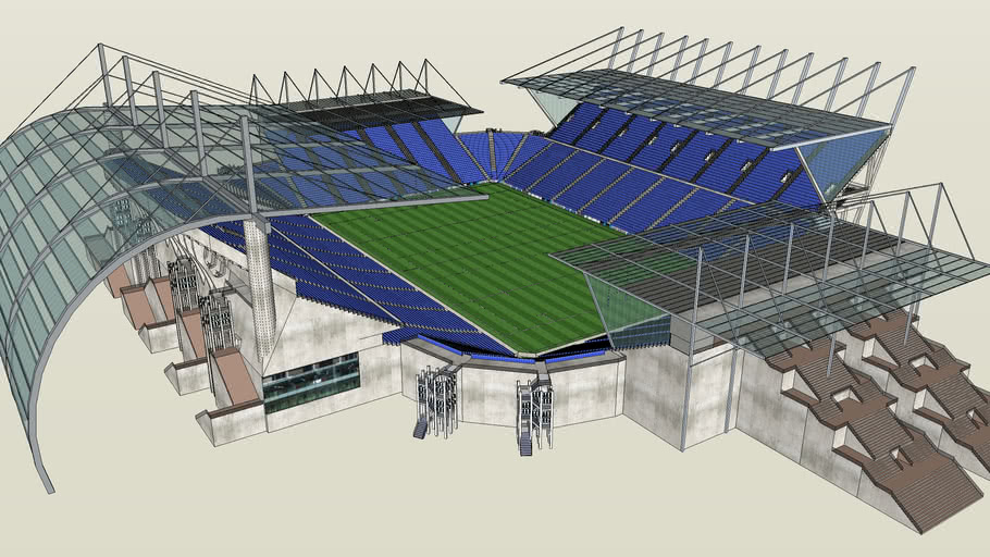 Detailed Rugby Stadium