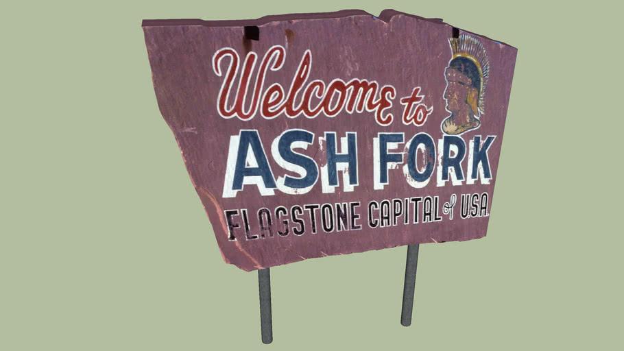 Welcome Sign Ash Fork, Arizona