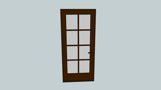 8 light door