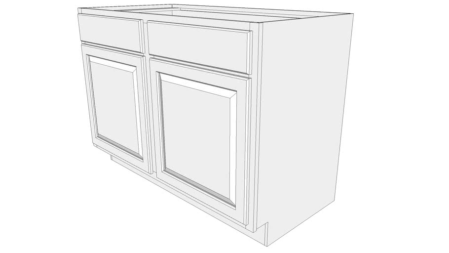 Briarwood Base Cabinet SB48 - Two Doors, Two Drawer Fronts