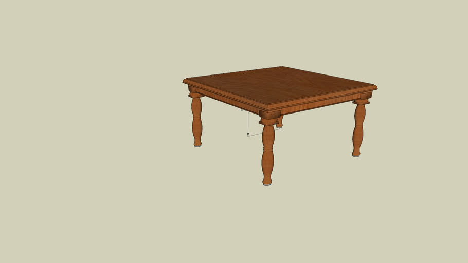 dining table, square 1500mm x 1500mm