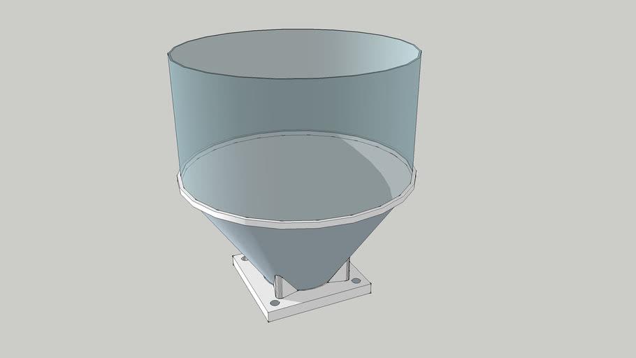 Hopper, filament extrusion