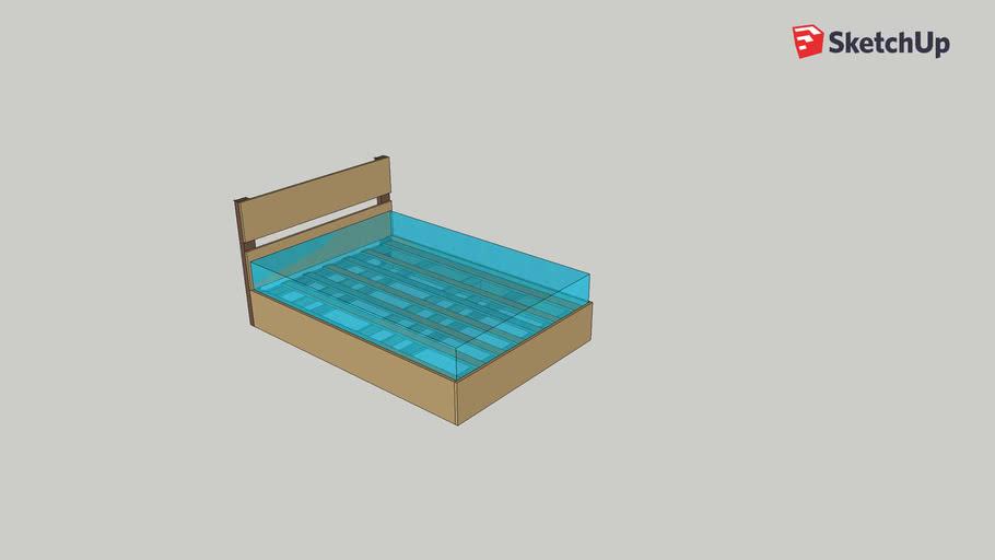 Cama casal colchão-box