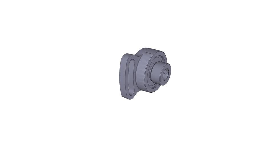 Oval-flanged bearing ESFA 202
