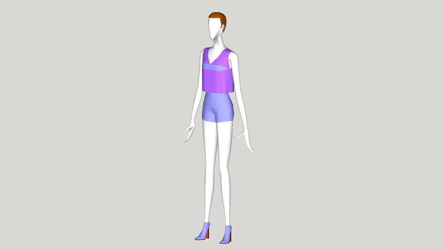 Abstract Cyber Mannequin - Alexis - Dressed
