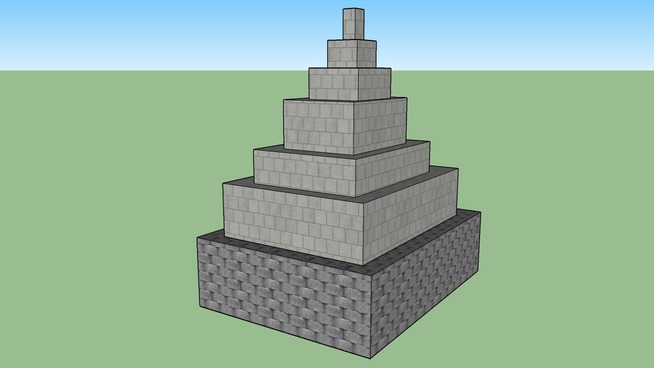 Concrete pyramid(my first model on google 3-d warehouse please rate)