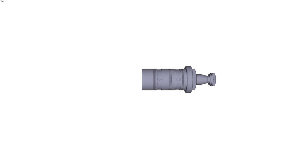 Double-effect threaded cartridge pivoting actuator type PCV 11 D