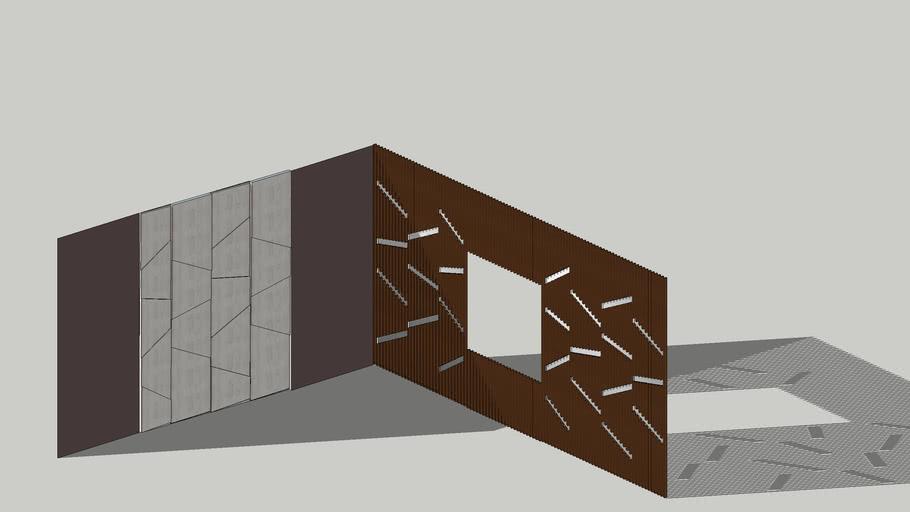 Geometrical |Wall panel | Wood | Veneer | laminate