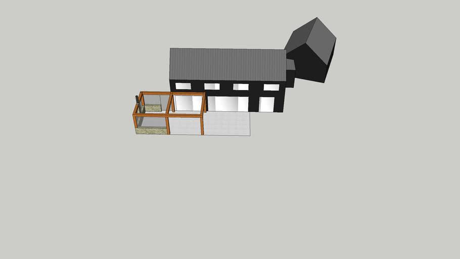 modern barn 2-storey (angle garage)
